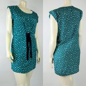 MAISON JULES Large Blue Green Dress